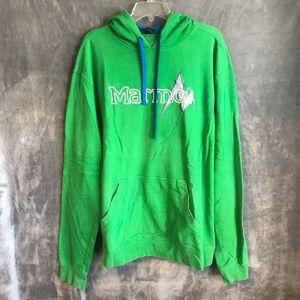 Marmot Green Blue Hoodie Sweatshirt XL